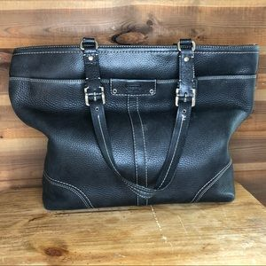Coach Black Pebbled Leather Hamilton Tote